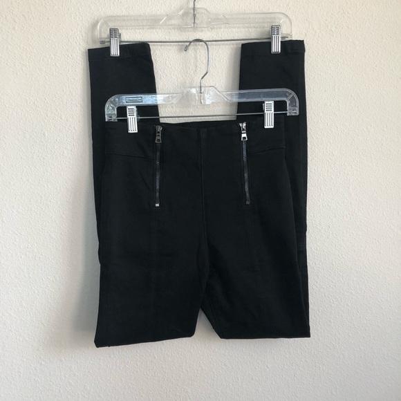 Frame Denim Denim - Frame denim double zip waist skinny noir jeans 26